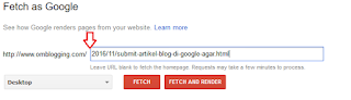 Feetch as google untuk artikel