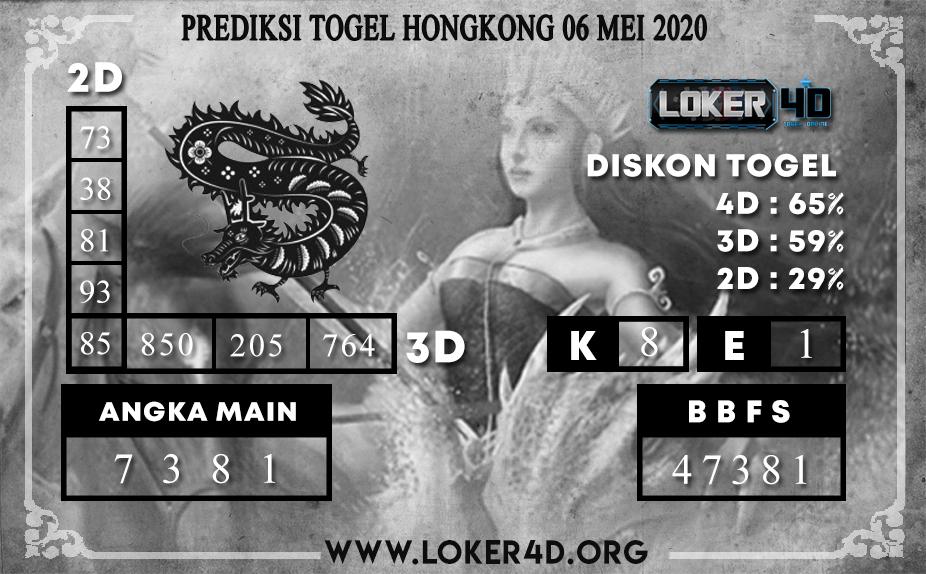 PREDIKSI TOGEL HONGKONG LOKER4D 06 MEI 2020