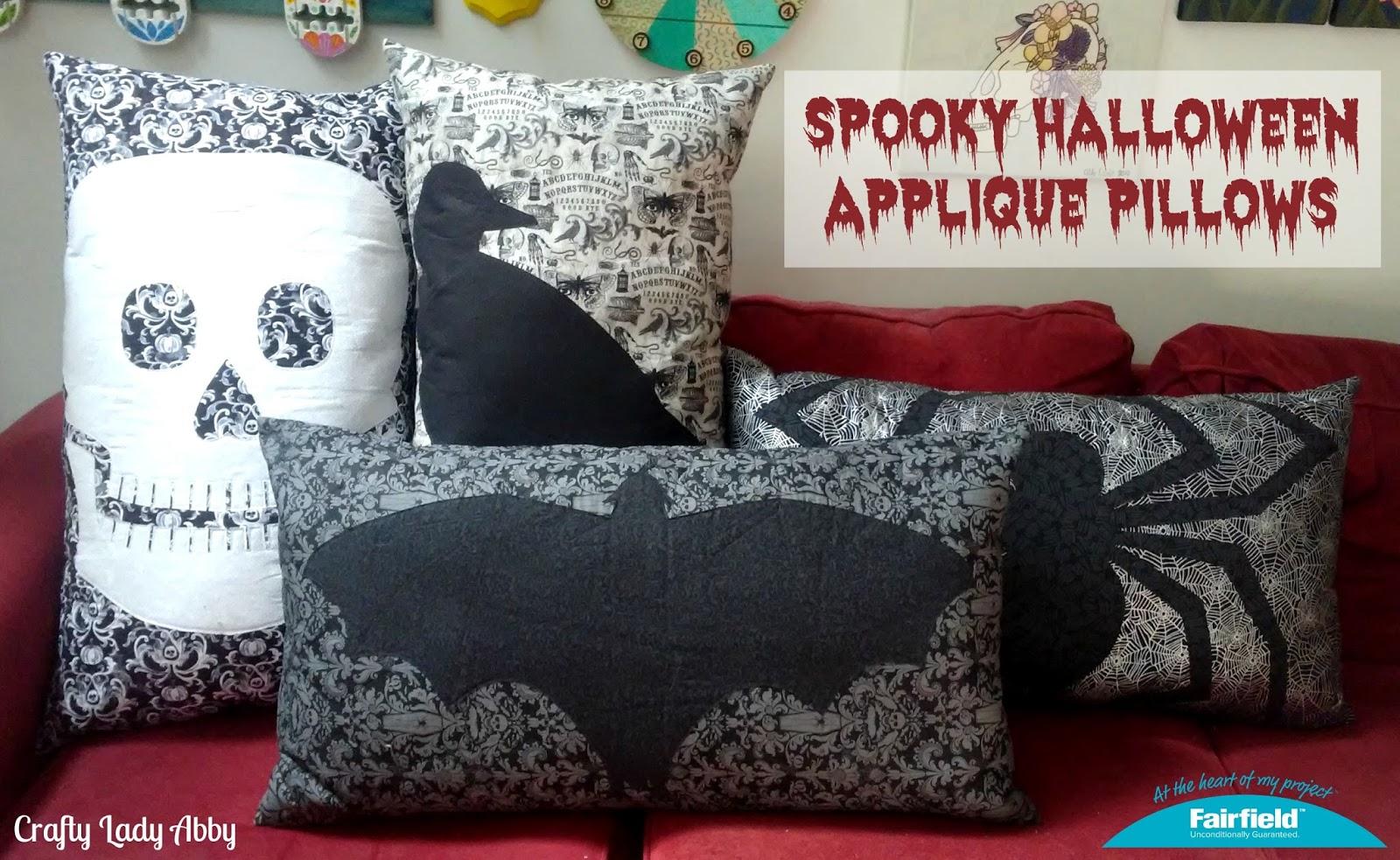HOME DECOR DIY Spooky Halloween Applique Pillows