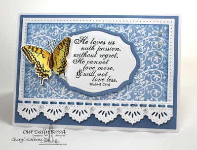 Stamps - Our Daily Bread Designs God's Love, 2 Step Butterfly, Chalkboard Vine Background , ODBD Custom Beautiful Borders Dies, ODBD Custom Elegant Oval Dies, ODBD Custom Grunge Butterfly Die