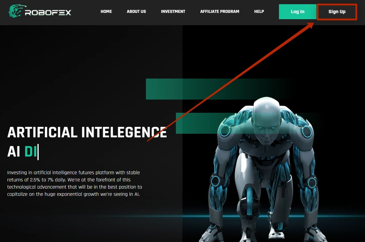 Регистрация в Robofex