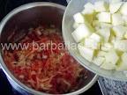 Supa de legume cu smantana preparare reteta - punem cartofii taiati cubulete