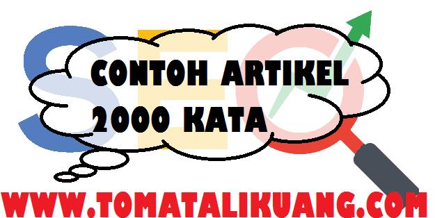 contoh artikel 2000 kata topik seo tomatalikuang.com