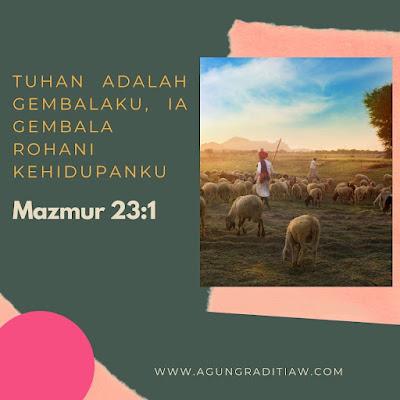 Renungan Saat Teduh Mazmur 23 1 Tentang Tuhan Adalah Gembalaku