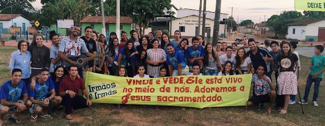 Juventude Missionária participa das Santas Missões Populares na diocese de Luziânia (GO)