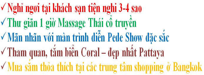 Tour du lịch Thái Lan 5 ngày 4 đêm từ Sài Gòn