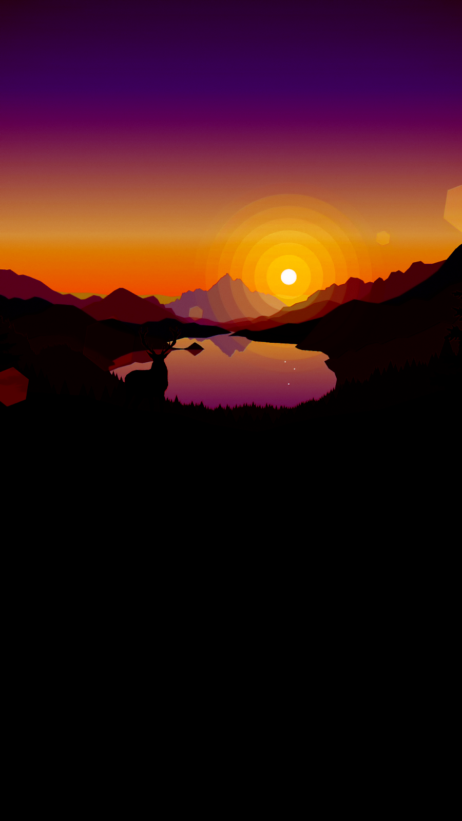 Firewatch Sunset lakeside
