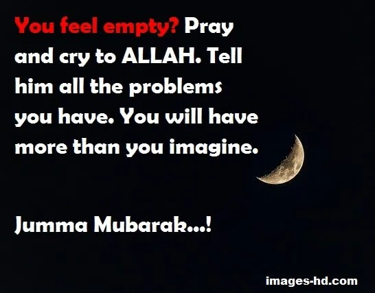 Pray & cry to Allah
