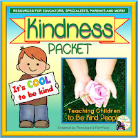 A kindness teaching packet with printables, worksheets, activities and posters