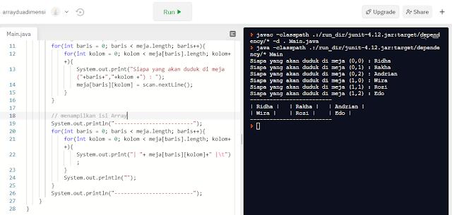 Array Multi Dimensi pada Bahasa Pemrograman Java