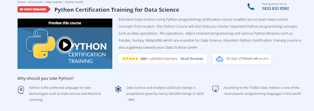 Python, Edureka, Development, Data Science