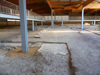 Zonas pendientes de excavación