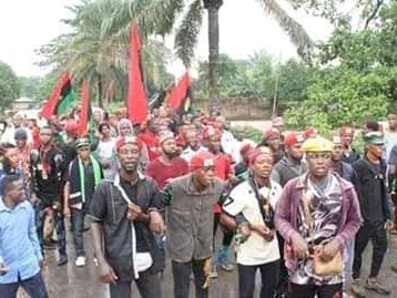 Nigerian Army on the run as Biafrans storms Owerri Imo State