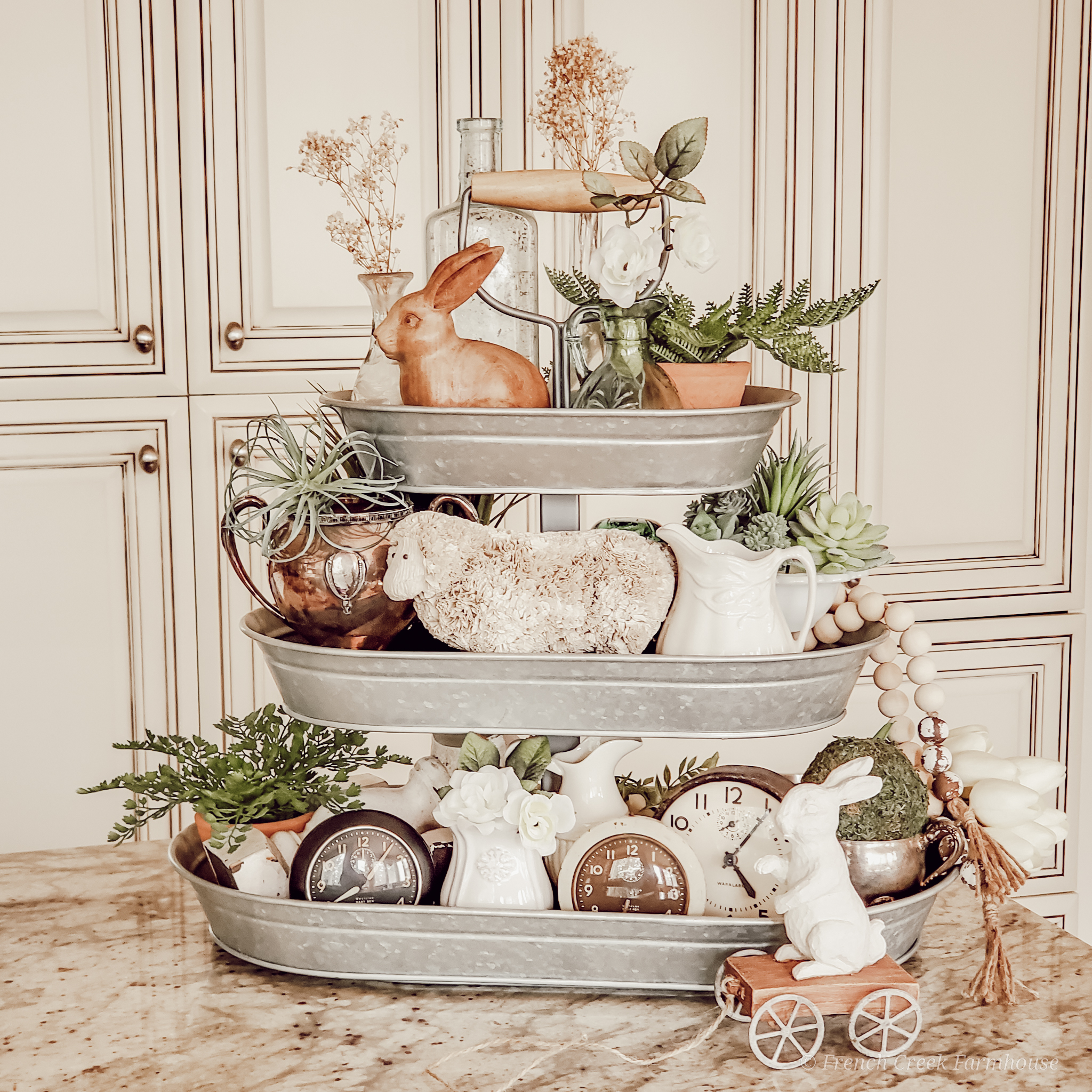 Farmhouse Easter Tiered Tray