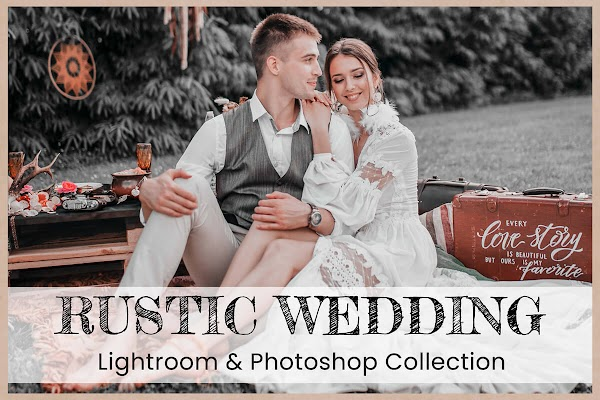 10 Rustic Wedding Collection   Lightroom Presets Mobile Presets Photoshop Action ACR