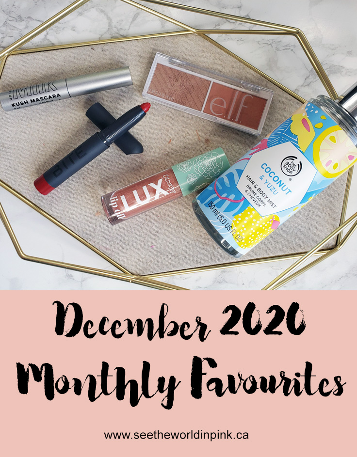 December 2020 - Monthly Favourites!