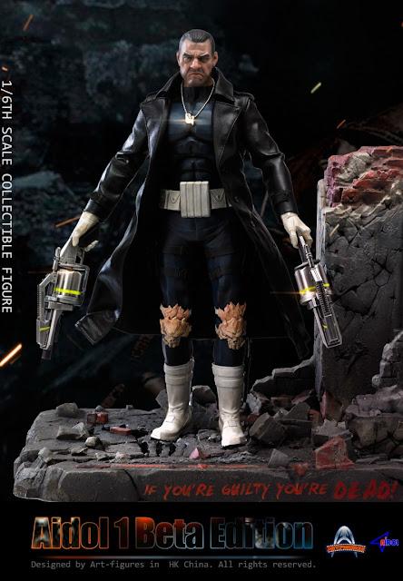 "osw.zone Artifacts 1/6. Aidol 1 Alpha Edition and Beta Edition 12 ""Figure aka Ray Stevenson Punisher"