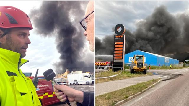لا يزال الحريق في Stena لإعادة التدوير ليس تحت السيطرة
