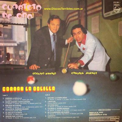 Cuarteto de Oro - Corran la bolilla / Discos Terribles