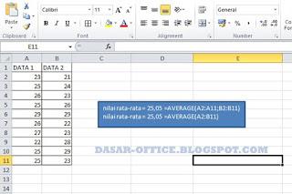 Cara Mencari Rumus Rata-Rata di Excel