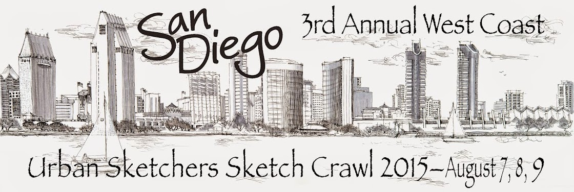 3rd Annual West Coast Urban Sketchers Sketch Crawl - San Diego