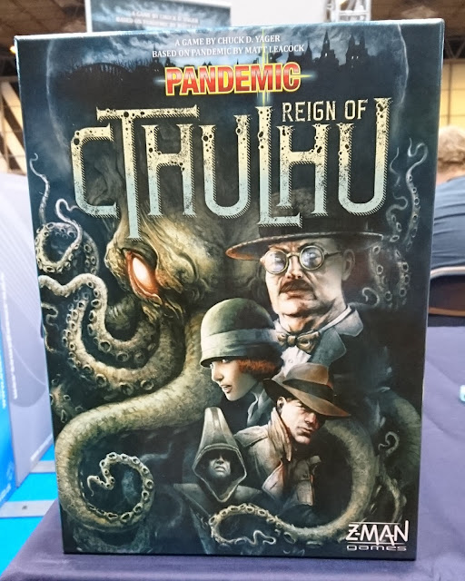 Pandemic: Reign of Cthulhu box art - UK Games Expo 2016