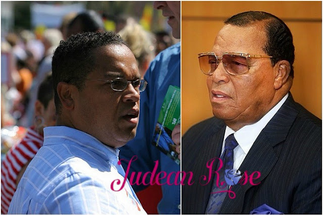 Farrakhan: By Tasnim News Agency, CC BY 4.0, https://commons.wikimedia.org/w/index.php?curid=47879606 Ellison: By Michael Hicks (Flickr: img_7947) [CC BY 2.0 (https://creativecommons.org/licenses/by/2.0)], via Wikimedia Commons