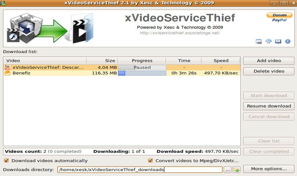 xVideoServiceThief, software gratis para descargar vídeos