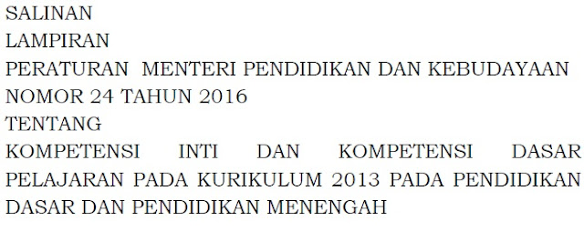 Download 59 Lampiran Kompetensi Inti dan Kompetensi Dasar Kurikulum 2013