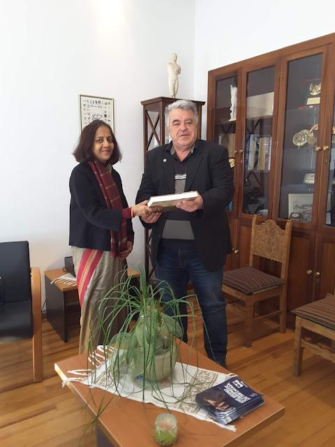 Γιάννενα: Η Πρέσβης Της Ινδίας Στην Ελλάδα Στο Επιμελητήριο Ιωαννίνων