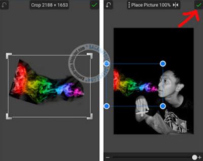 Editing Membuat Efek Asap Rokok warna warni
