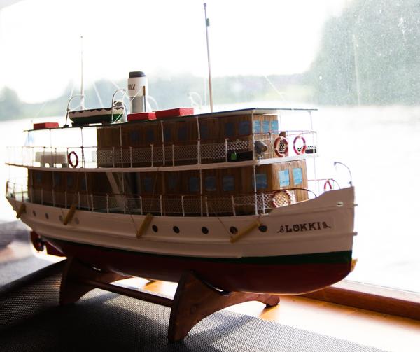 pienoismalli vanhasta laivasta järviristely saimaa