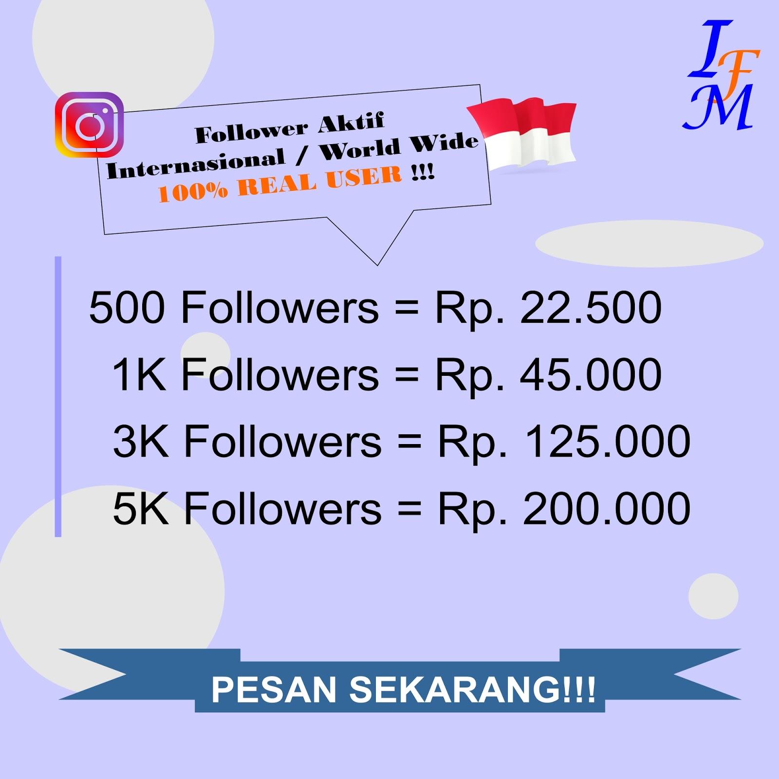 Jasa Tambah Follower Akun Instagram Aktif Mix Worldwide 100% Real User