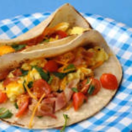 Bacon and Egg Breakfast Tacos