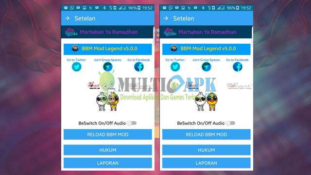 Aplikasi BBM2 Mod Terbaru Legend v5.0.0 New Style Base 2.13.1.14