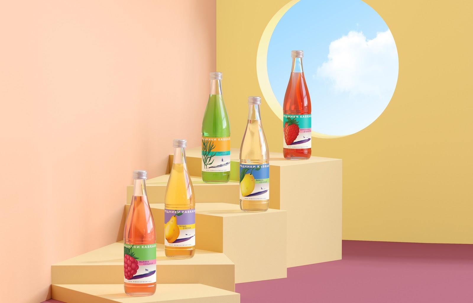 Springs of Caucasus Lemonades Re-Design