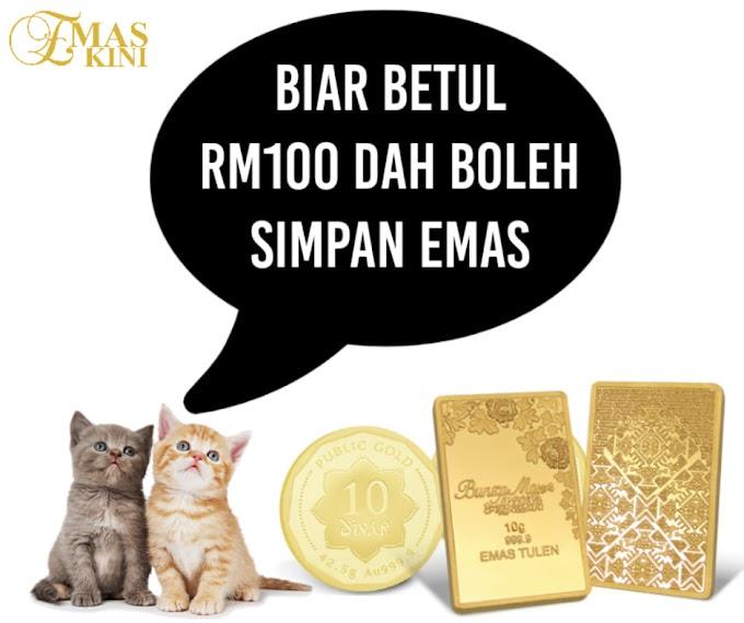 Bajet RM100 Dah Boleh Mula Simpan Aset Emas
