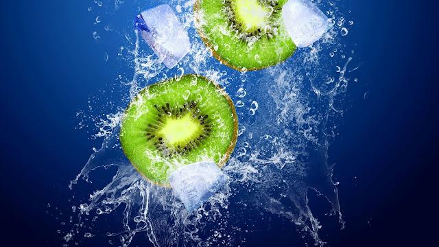 Kiwi, acqua, ghiaccio,