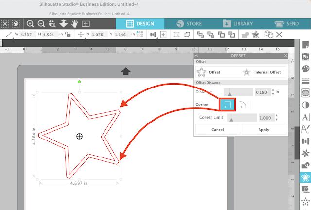 offset tool, silhouette studio v4.4, silhouette studio, offset, silhouette studio tutorials