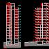 مشروع عمارة سكنية من 12 طابق + مستودع اوتوكاد dwg