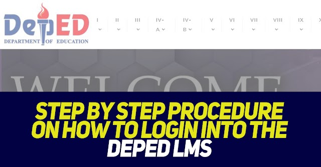 Step by Step Procedure on How to Login into the DepEd LMS