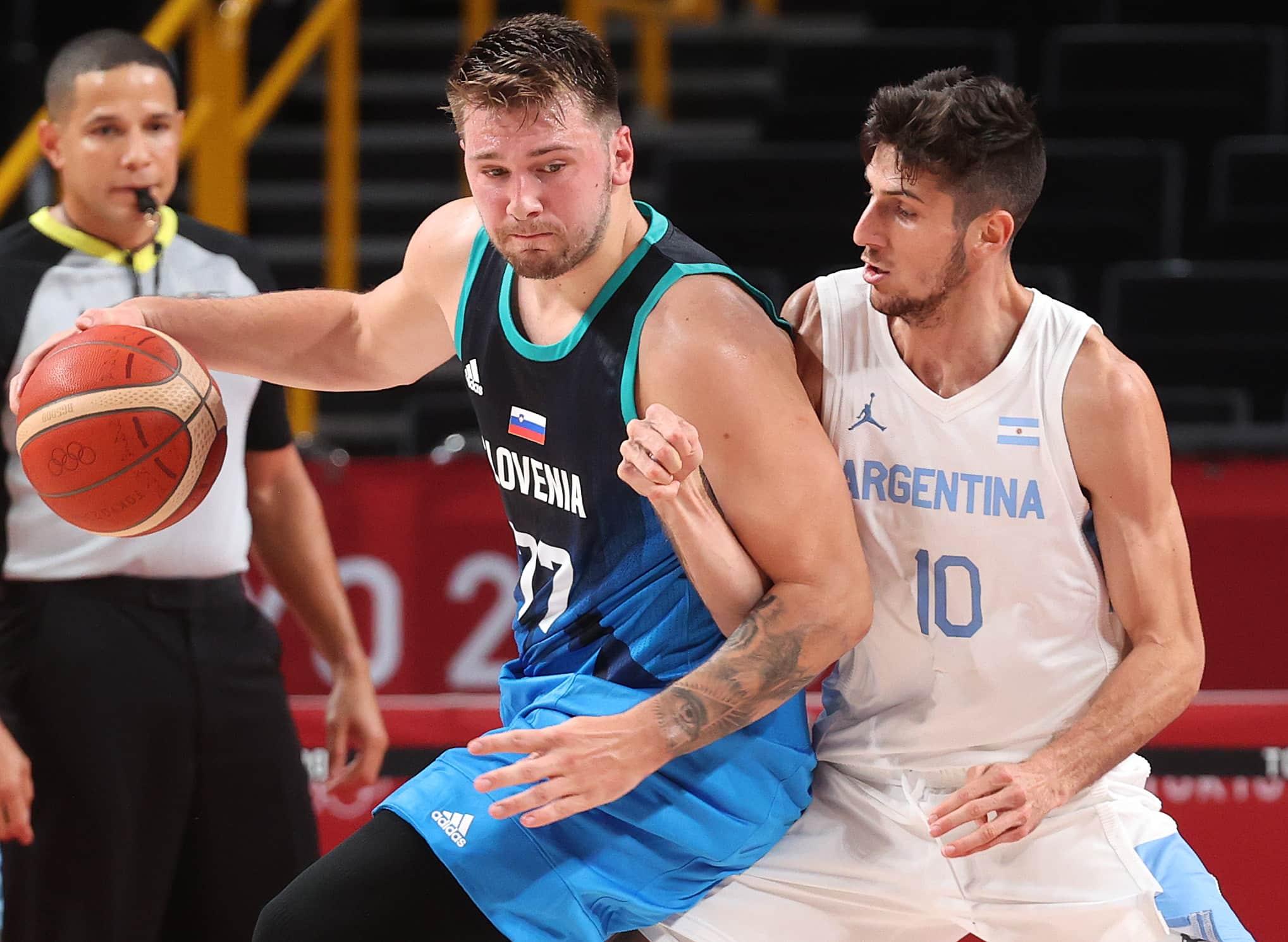Argentina sufrió a Luka Doncic y perdió con Eslovenia en el debut en los JJ.OO.