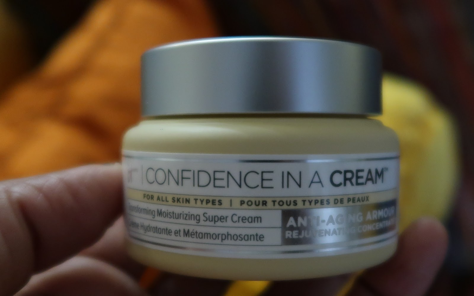 It confidence in a cream. Used as Tangie Bell anti-aging routine