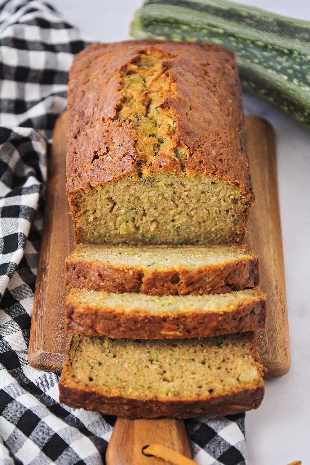 This delicious homemade zucchini bread is so tender and moist, with the perfect amount of sweetness!