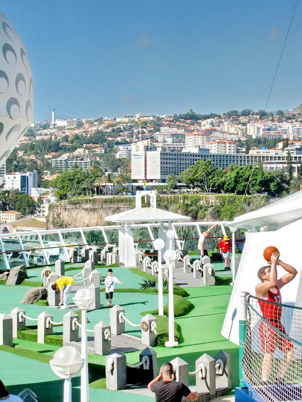 cruise ship and land