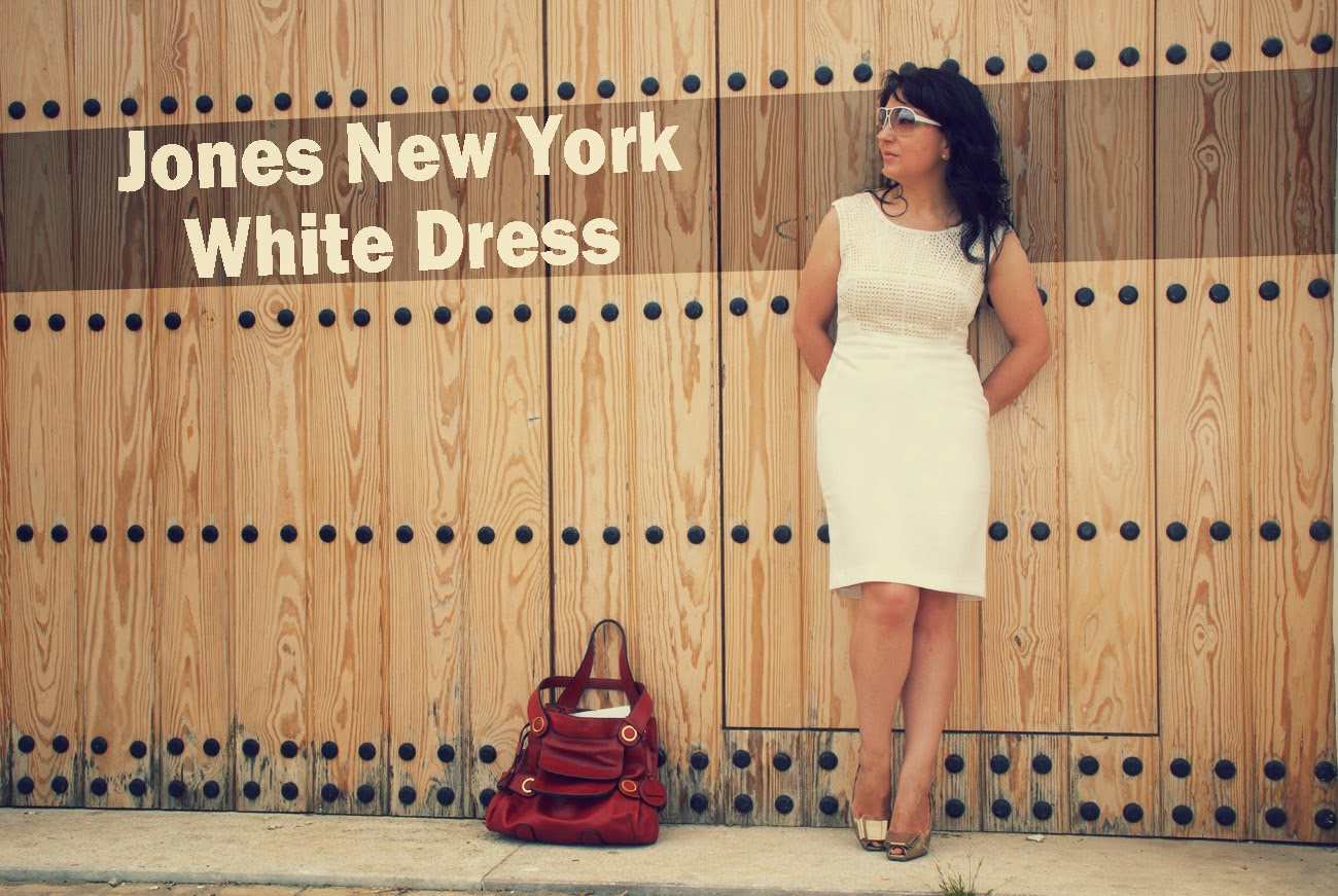 Jones+New+York+White+Dress+El+Corte+Ingles