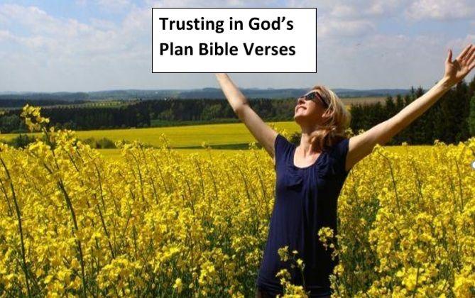 Trusting in God's Plan Bible Verses