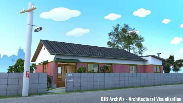 Chibi Maruko-chan's house ちびまる子ちゃんの家