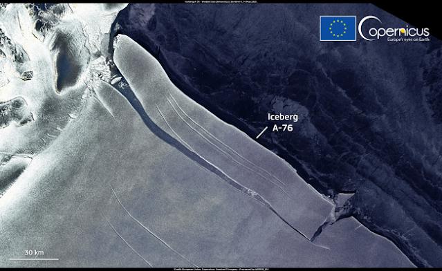 Αποκολλήθηκε στην Ανταρτική το μεγαλύτερο παγόβουνο του κόσμου