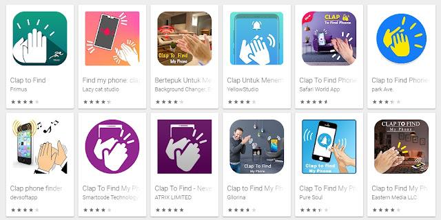 Aplikasi untuk menemukan smartphone  hanya dengan bertepuk tangan